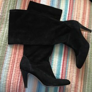 Arturo Chiang Black Suede Leather boots 7 1/2 7.5